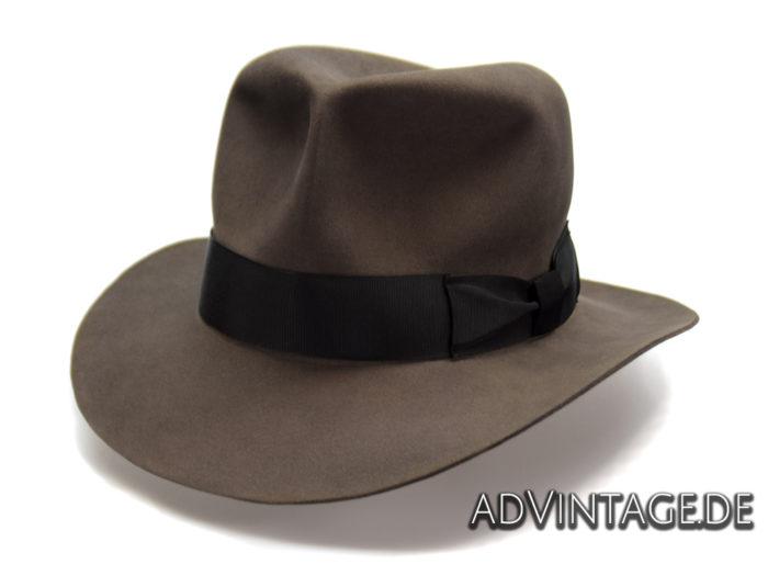 Streets of Cairo Indiana Jones Fedora Hut Hat smoke grey 4