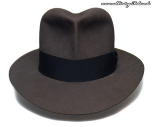 Clipper Fedora smoke grey Indiana JonesHut Hat front