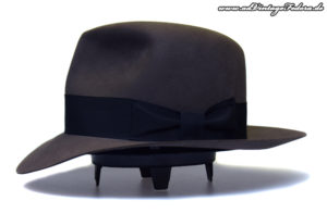 Clipper Fedora smoke grey Indiana Jones Hut Hat from side