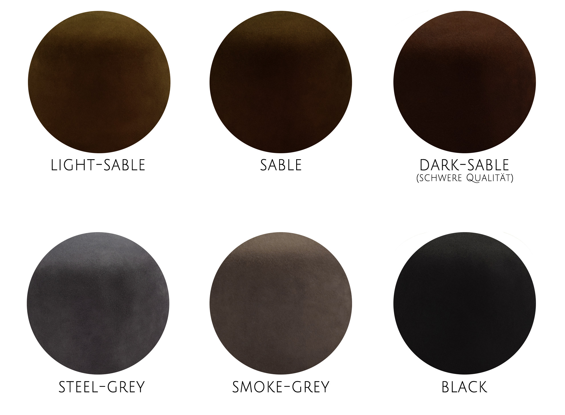 Farbkarte 100% Biberfilz 100x