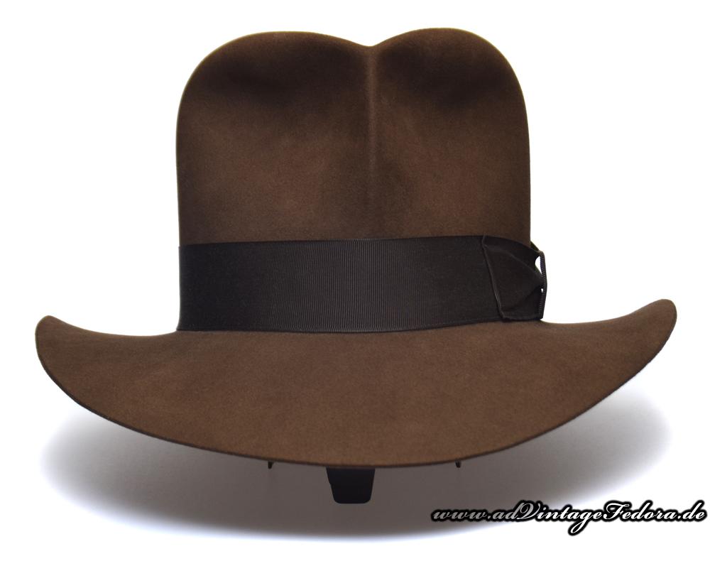 Raider Fedora Indiana Jones Hut Hat with Raiders Turn Front 2