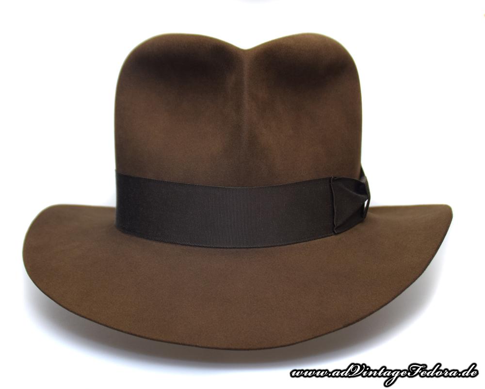Raider Fedora Indiana Jones Hut Hat with Raiders Turn Front 3