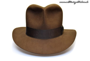 Raider Fedora Indiana Jones Hut Hat with Raiders Turn Front 5