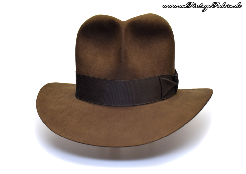 Raider Fedora Indiana Jones Hut Hat with Raiders Turn Front 4