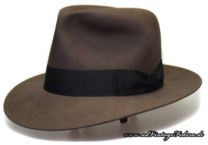 Smoke-grey Indiana Jones Fedora Hut Hat Crystal Skull