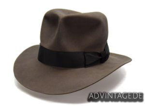 Streets of Cairo Indiana Jones Fedora Hut Hat smoke grey 1