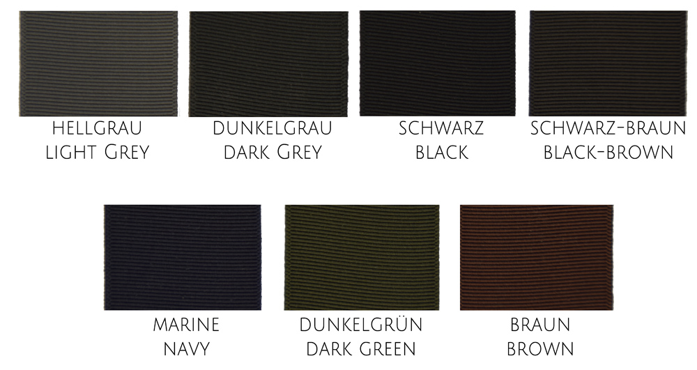 Herren Hutband Grosgrain Ribbon Men farben