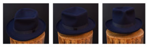 beaver felt fedora diamond cross crease
