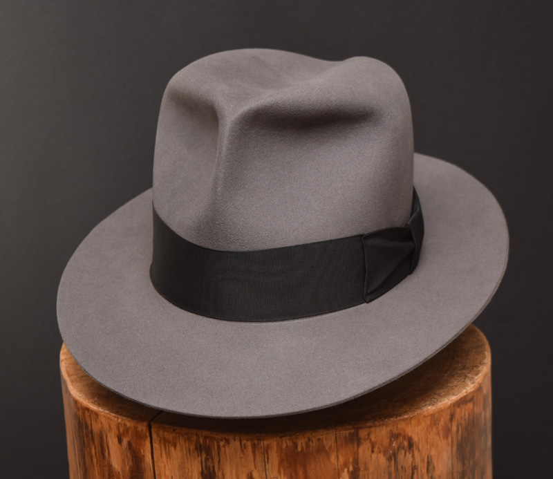 Clipper Fedora hat beaver felt