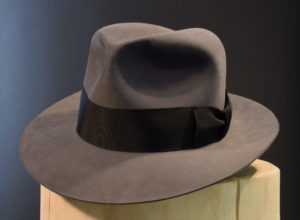 Custom Smoke grey fedora hat beaver hut biber