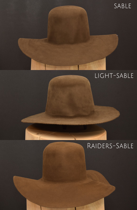 Indiana Jones Hut Hat colour Farbe Filz felt 2