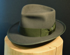 Biberfilz Fedore Hut mit gebundener Krempe 4