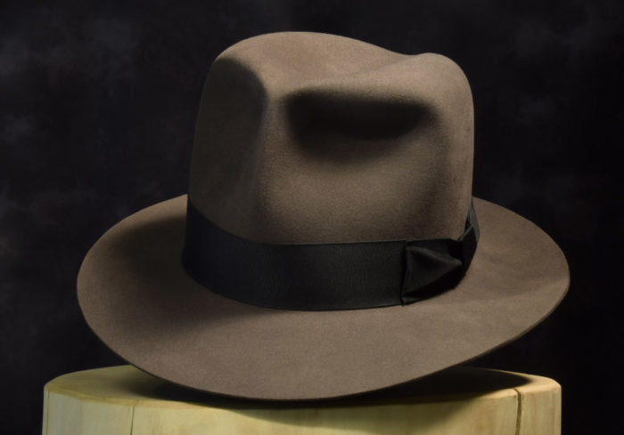 Clipper fedora smoke grey 100% biber beaver 2