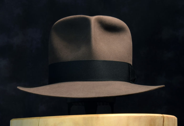 Clipper fedora smoke grey 100% biber beaver