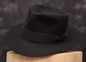 4 diamond crease fedora hut hat beaver biber schwarz black 1