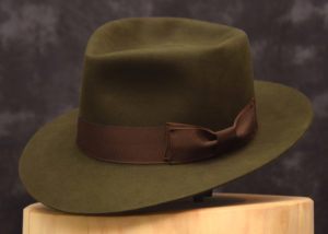 6 diamond crease fedora hut hat beaver biber green moss grün moos 1