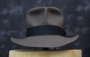 Streets of Cairo Fedora hut hat smoke grey grau biber beaver 2