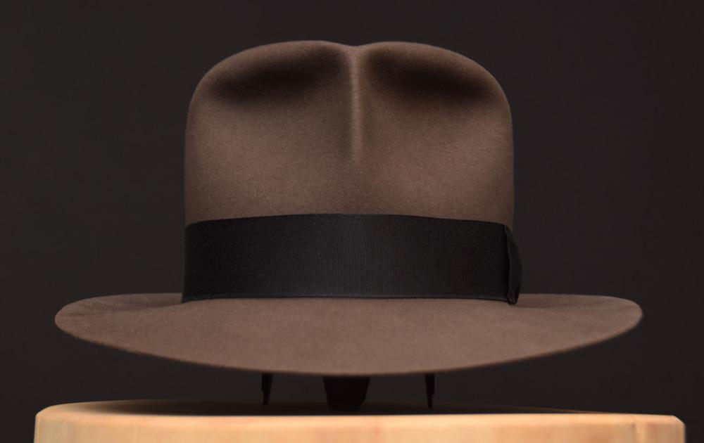 Smoke grey indiana jones clipper fedora hat hut 1