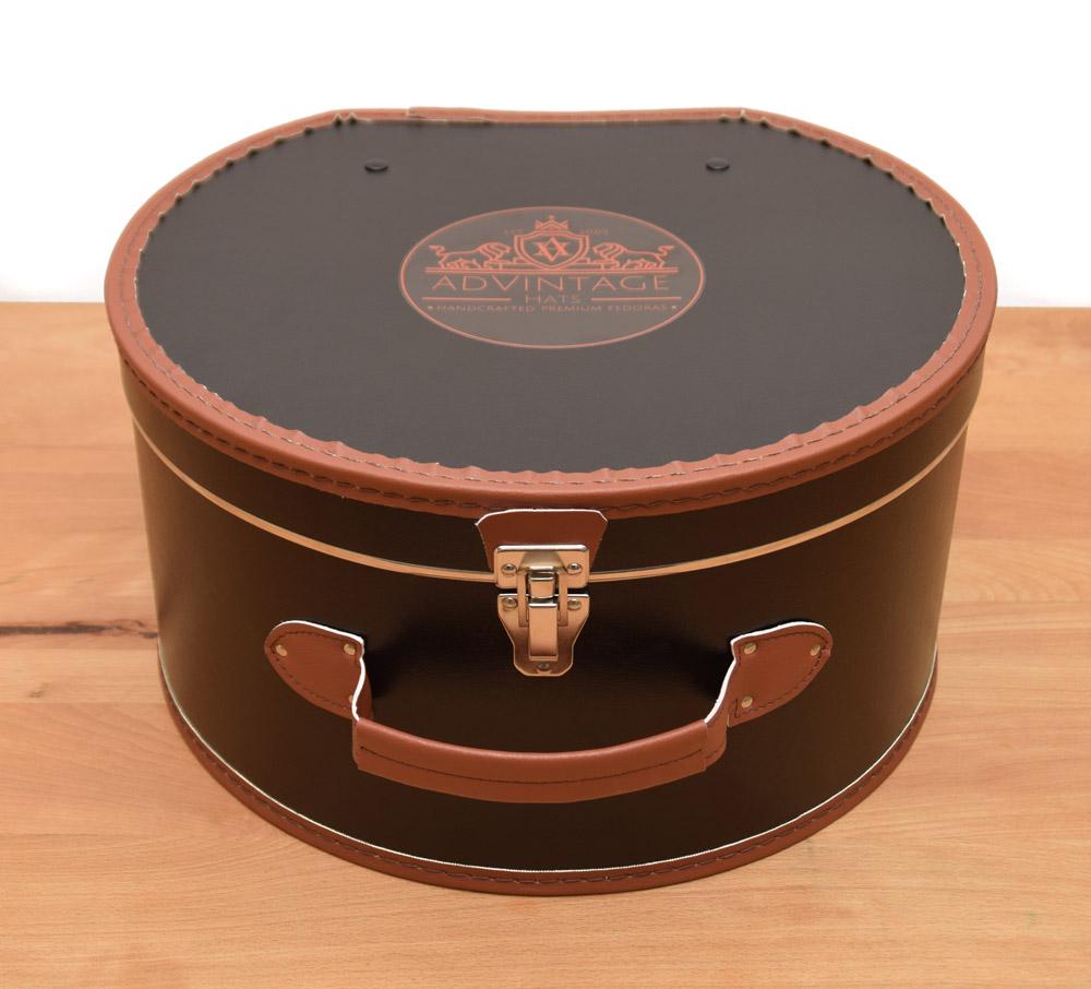 Hutkoffer Hutkarton Hutschachtel Hutbox mit Einlage von adVintage Fedora