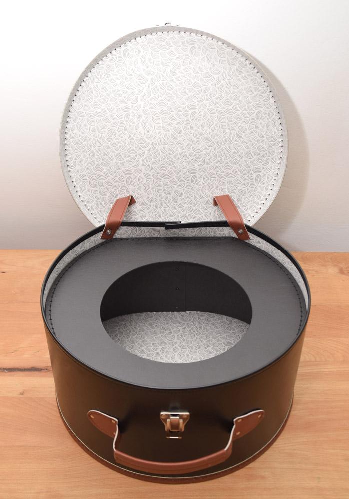 Hutkoffer Hutkarton Hutschachtel Hutbox mit Einlage von adVintage Fedora 5