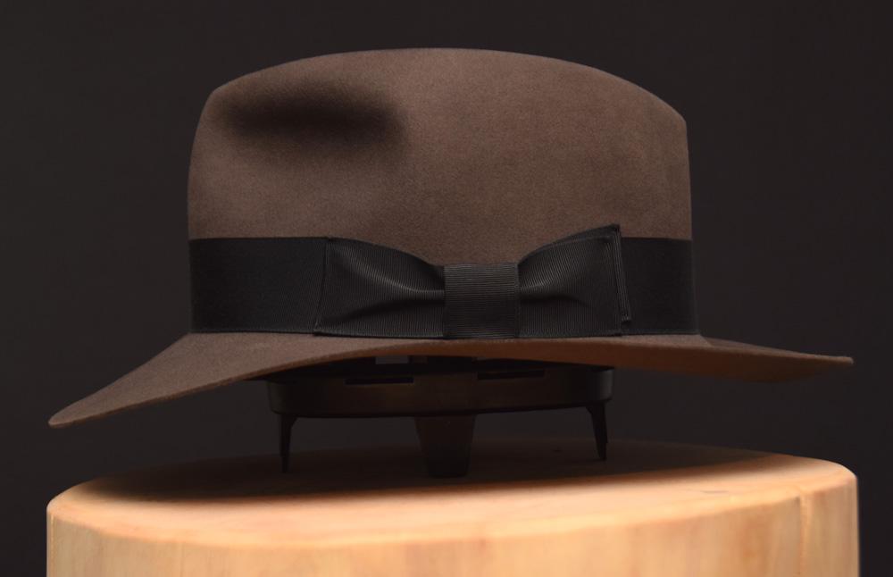 smoke grey rauch grau fedora kurz short 2 hut hat
