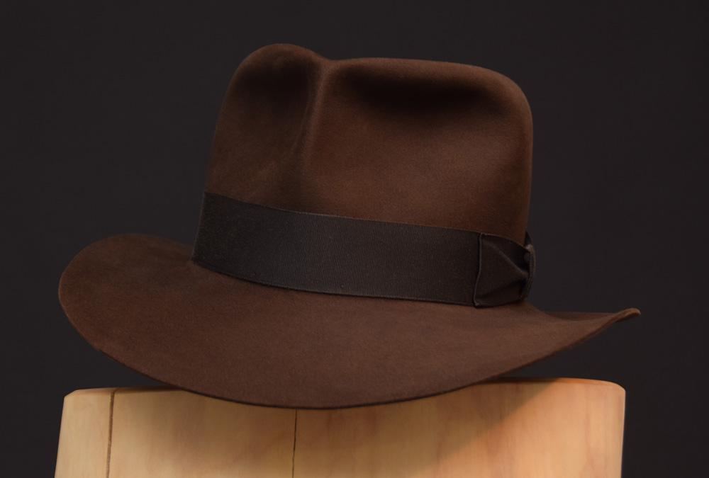 RaidesFedora hat shorter crown dark sable 1 biber beaver