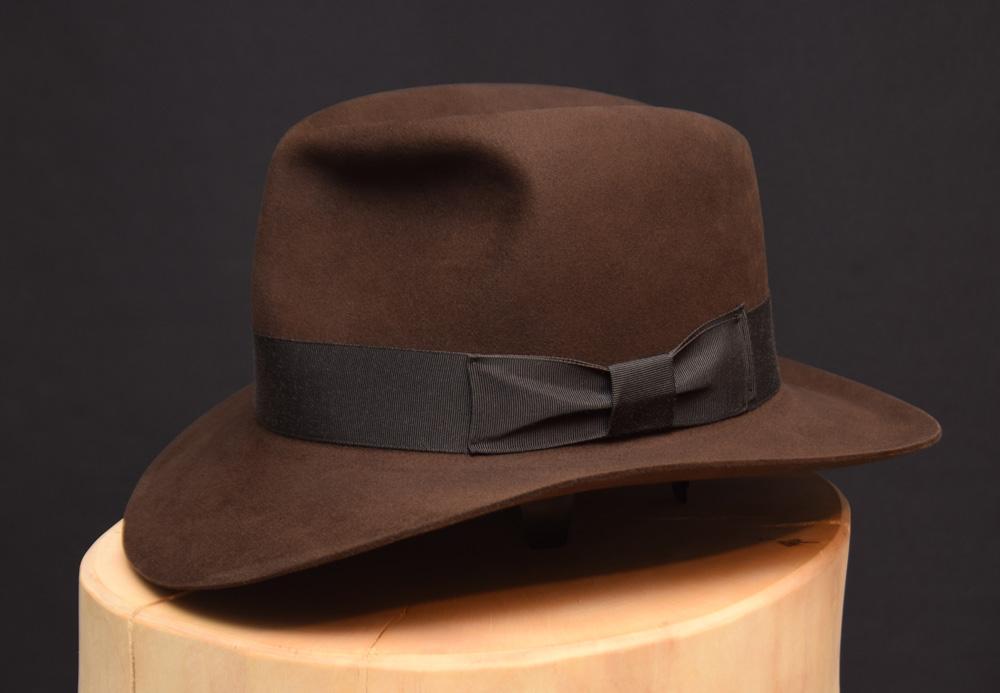 RaidesFedora hat shorter crown dark sable 1 biber beaver 2