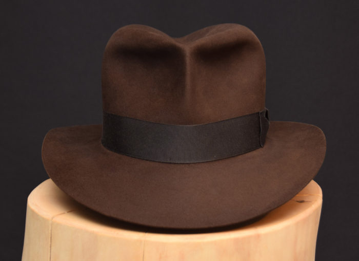 RaidesFedora hat shorter crown dark sable 1 biber beaver 3