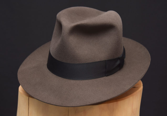 Harrison fedora hut hat smoke grey grau filz felt