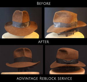reblock neublock fedora hut reparatur renovierung 1