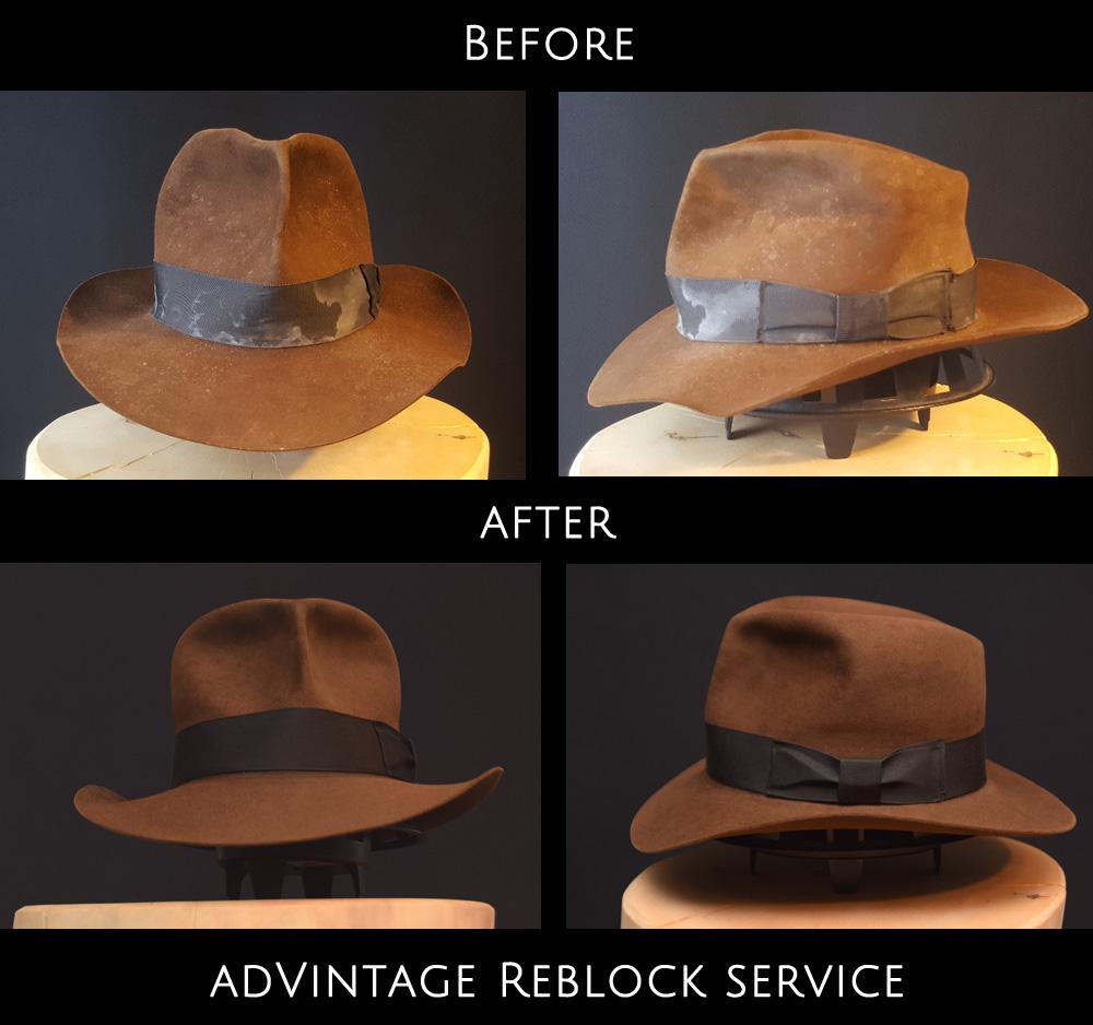 ✓ Reblock Service – adVintage Hats