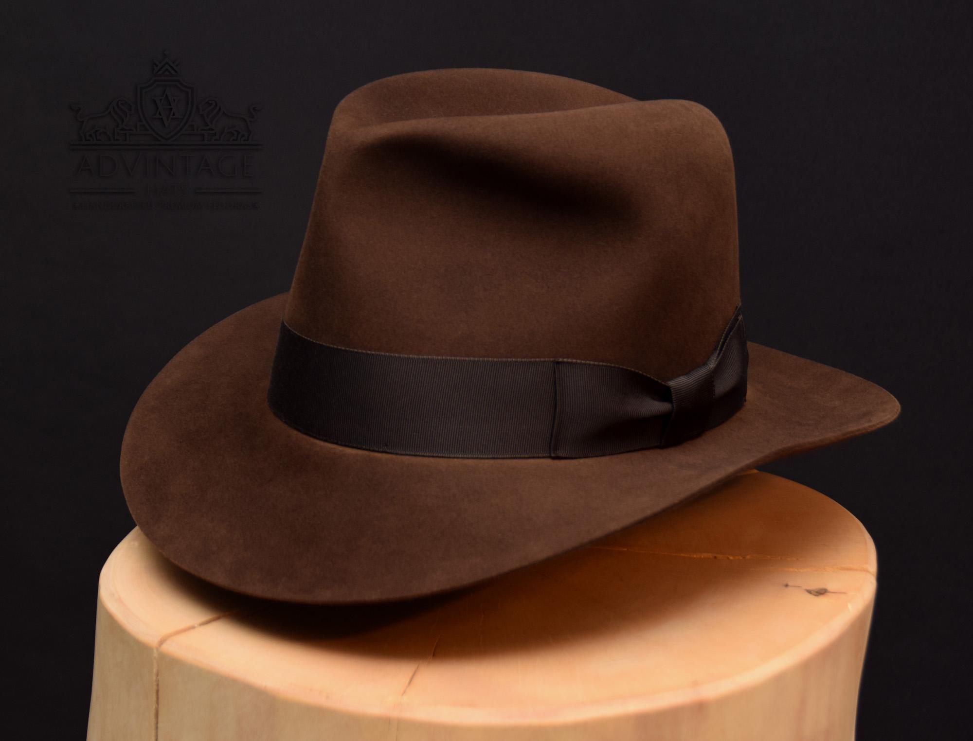 Indiana Jones Fedora Hut hat Last Crusade letzte Kreuzzg Treu Sable a