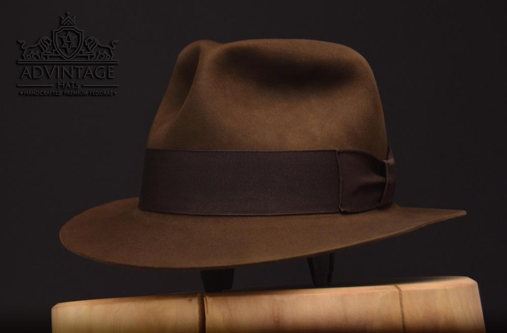 Classic Fedora short brim handcrafted beaver biber hut hat