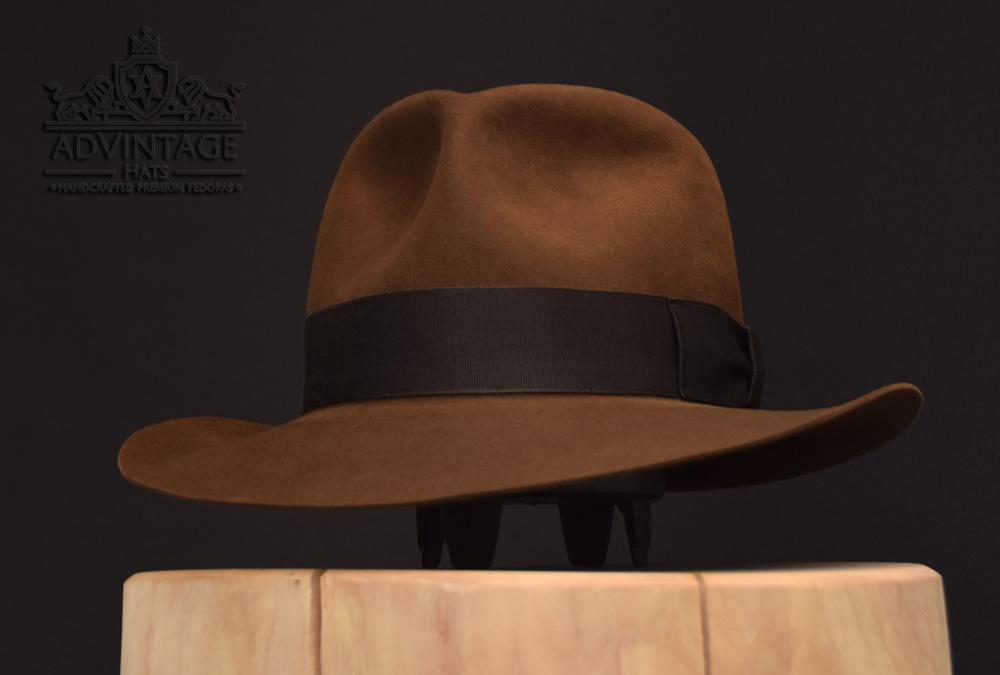 Custom handmade handcrafted handgemavcht indiana jones fedora hut hat