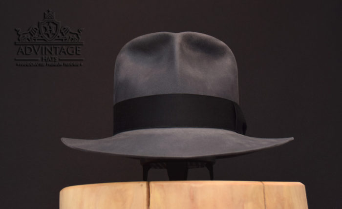Indiana Jones Fedora hut hat biber beaver grey grau raiders clipper