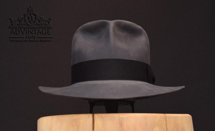 Indiana Jones Fedora hut hat biber beaver grey grau raiders clipper