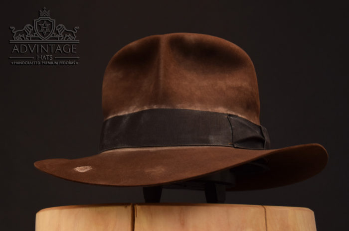 Streets of Cairo Indiana JOnes fedora hat hut sable, distressed felt