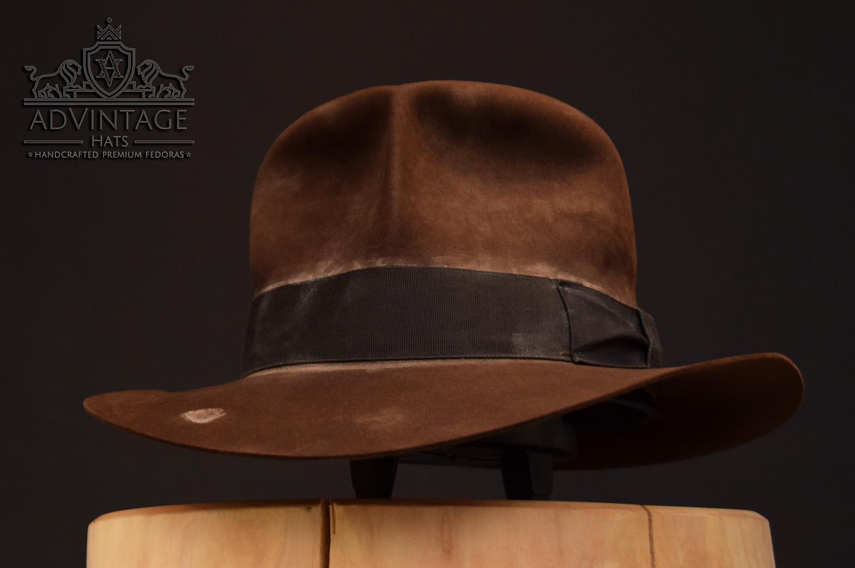 Streets of Cairo Indiana JOnes fedora hat hut sable, distressed felt