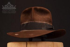 soc Indiana JOnes fedora hat hut sable, distressed felt