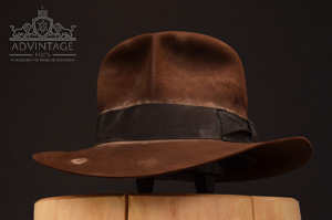 soc Indiana JOnes fedora hat hut sable, distressed felt