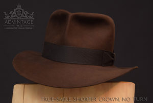Raiders Fedora Hut hat Indy Indiana Jones Filz felt sable 3