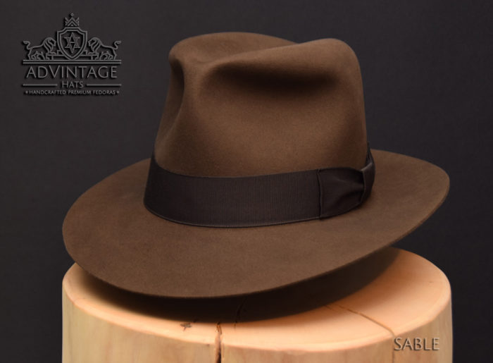 Kingdom Crsytal skull Fedora Hut hat Indy Indiana Jones Filz felt sable 1
