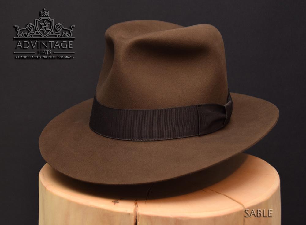 Kingdom Crsytal skull Fedora Hut hat Indy Indiana Jones Filz felt sable 1