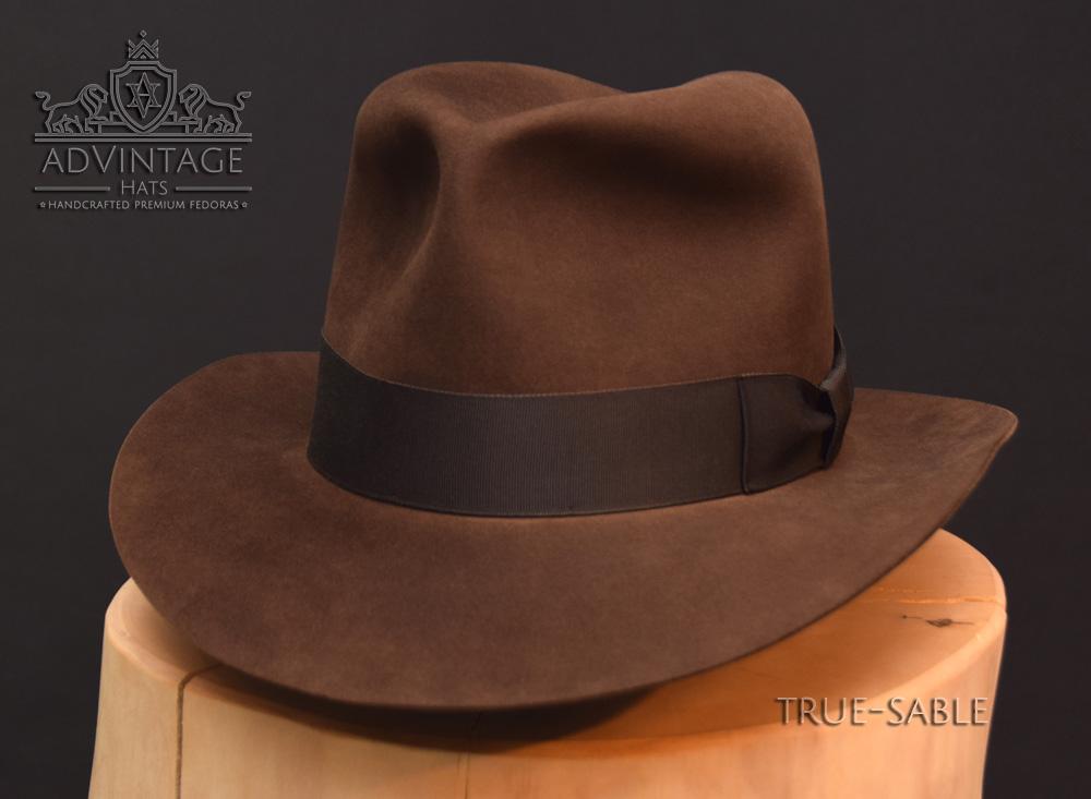 Last Crusade Fedora Hut hat Indy Indiana Jones Filz felt sable 4
