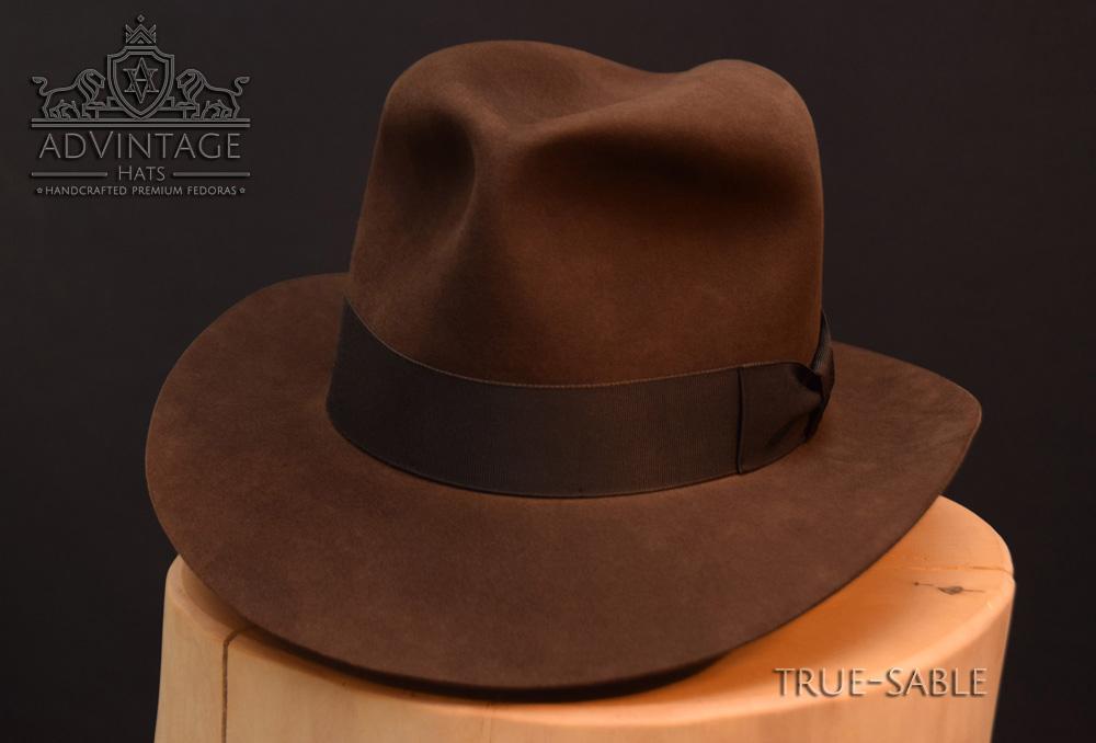 Last Crusade Fedora Hut hat Indy Indiana Jones Filz felt sable 6