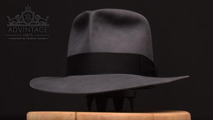 Clipper Fedora hat beaver felt handcrafted indy indiana jones