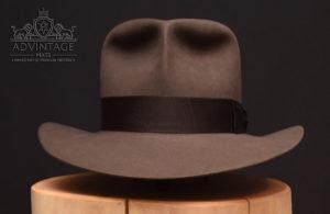 handgemachter Fedora Hut aus Biberfilz