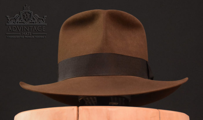 Raider Fedora hat in sable without Turn