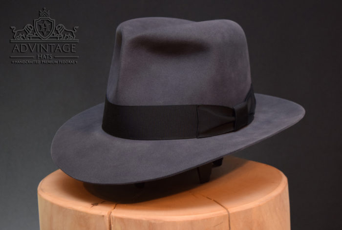 Clipper Fedora hut hat steel grey Indiana Jones Indsy rotla raiders handmade