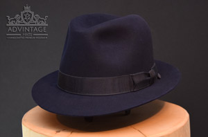 Blacklist  Trilby Fedora hat hut james spader red reddington raymond blau blue advintage